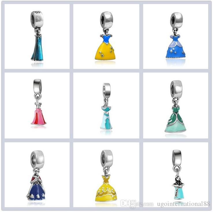 236d82832 2019 Fits Pandora Bracelets Silver Pendant Belle Cinderella Ariel Charm  Bead Loose Beads For Wholesale Diy European Sterling Necklace Jewelry From  ...