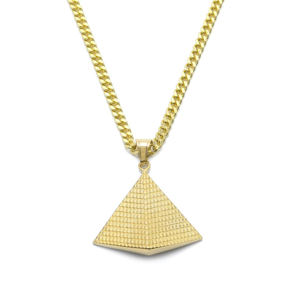 Wholesale gold egyptian pyramid pendant charm necklace gold plated wholesale gold egyptian pyramid pendant charm necklace gold plated 316l stainless steel necklace chain womenmen egypt jewelry rose gold pendant necklace aloadofball Image collections