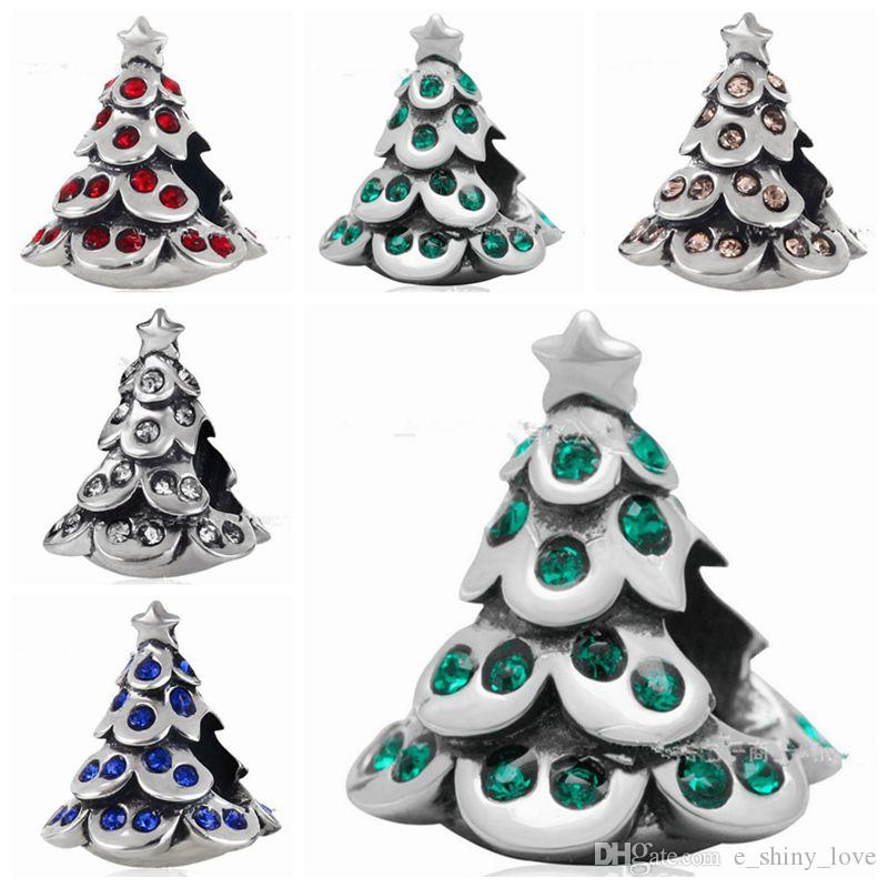 4e31557da 2019 Mixed Fashion Real 100% 925 Sterling Silver Rhinestone Christams Tree  Bead Fit European Bracelet Authentic Luxury DIY Jewelry Gift From  E_shiny_love, ...