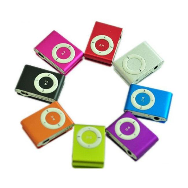 Mini Clip MP3 Player Wholesale Cheap Sport Style Metal MP3 Players without Screen with Retail Box Earphone USB Cable - No Micro TF Cards