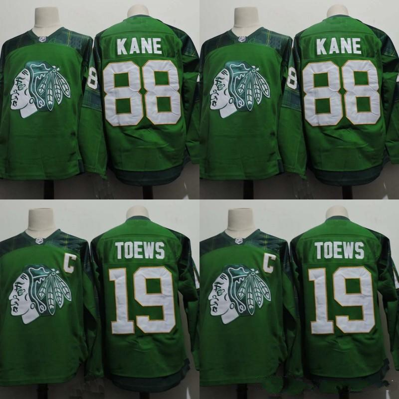 ... Reebok Chicago Blackhawks Jonathan Toews Premier Jersey 2017 Chicago  Blackhawks Green 2015 St. PatrickS Day Jersey Mens 88 Patrick Kane 19  Jonathan ... fd8212470