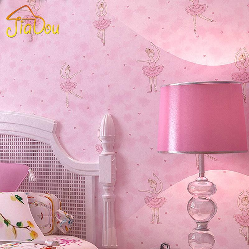 Modern Cute Cartoon Ballet Girl Wallpaper Roll For Walls ChildrenS Room Bedroom Living Wall Covering Papel De Parede 3D Free Wallpapers