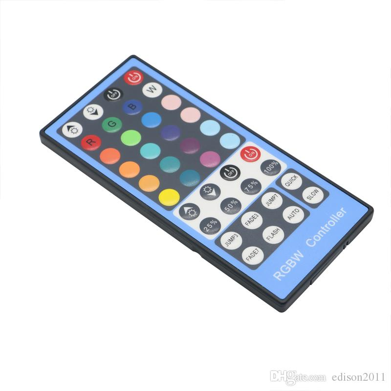 Edison2011 DC12-24V 2A*4 Channel 40Key RGBW Led Controller Dimmer IR Remote Control for 5050 3528 RGBW Led Flexible Strip Lamp