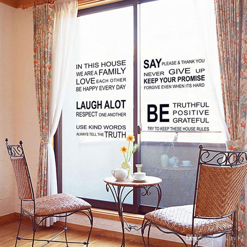 we are family Home Decor Love Art Quote Vinyl Decor Removable Wall Stickers Art Home Decals