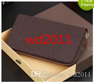 2017 hot luxury brand Fashion zipper wallet long style purse designer clutch Genuine leather wallet with 60015 60017