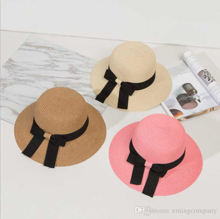 f438796f1aaf52 Fashion Big Straw Beach Hats With Bow Ladies Wide Brimmed Vietnam Floppy  Foldable Sun Hat Women Caps Elegant UA Protect Summer Sun Visors Stetson  Hats ...