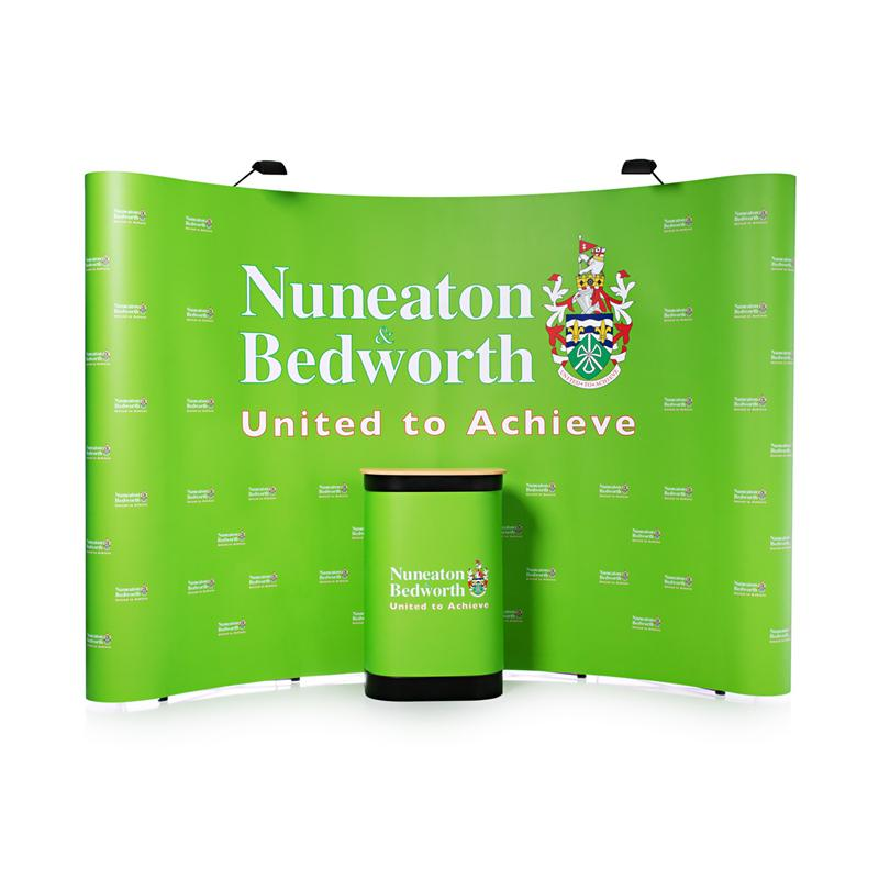 Fabric Exhibition Stand Up Comedy : New ft curved magnetic pop up display stand for trade