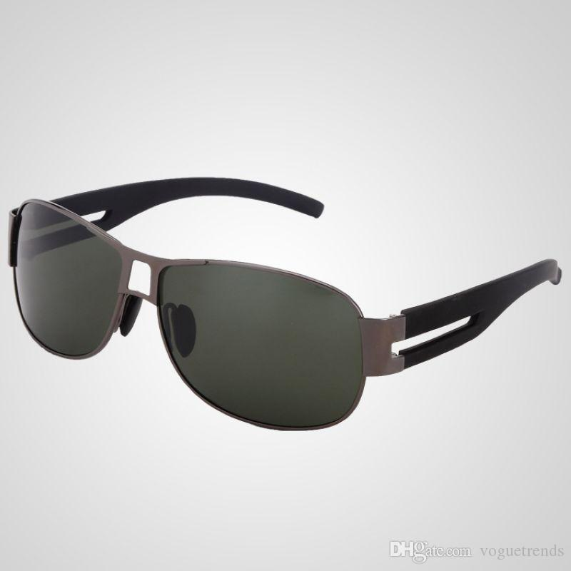 e7b65266f0 Mens Polarized Pilot Sunglasses For Driving Alloy Frame Green PC ...