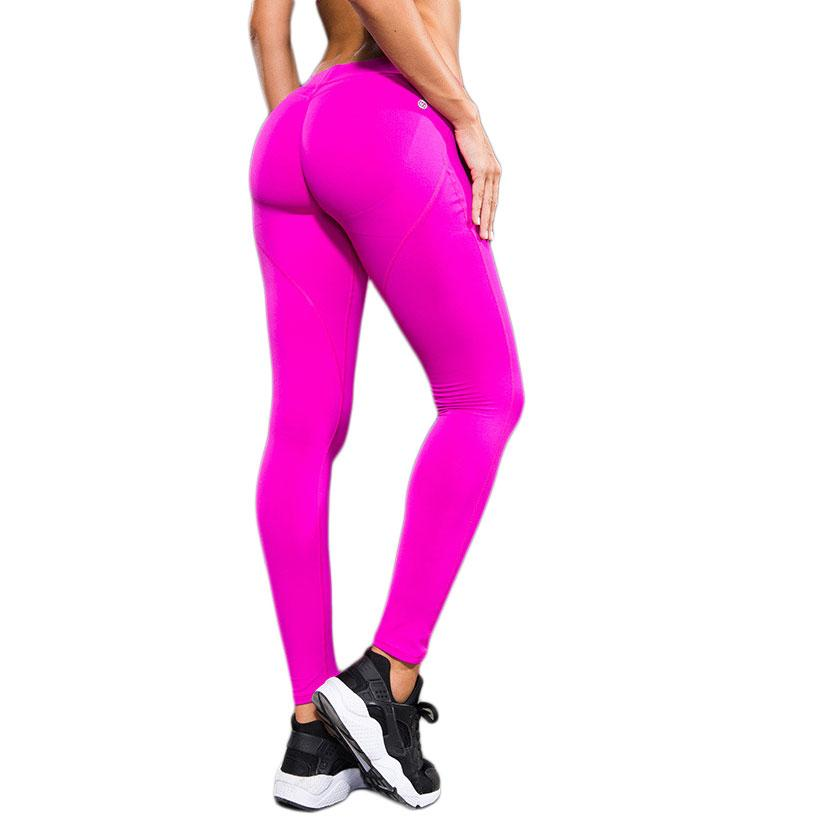 58fa94ebaf29c Wholesale Women Pink Fitness Leggings For Woman Sexy Push Up Leggins High  Elastic Peach Hip Jegging 2016 Ropa Deportiva Canada 2019 From Feiyancao,  ...
