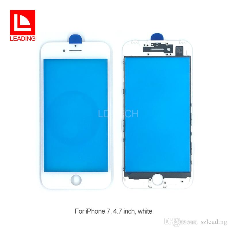 Front Touch Screen Panel Outer Glass Lens with Cold Press Middle Frame Bezel Screen for iPhone 7 iPhone 7 plus