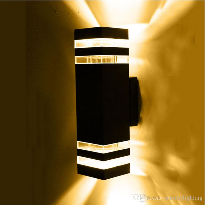 Discount modern outdoor wall lighting outdoor wall lamp led porch lights waterproof lamp for Contemporary exterior wall lights