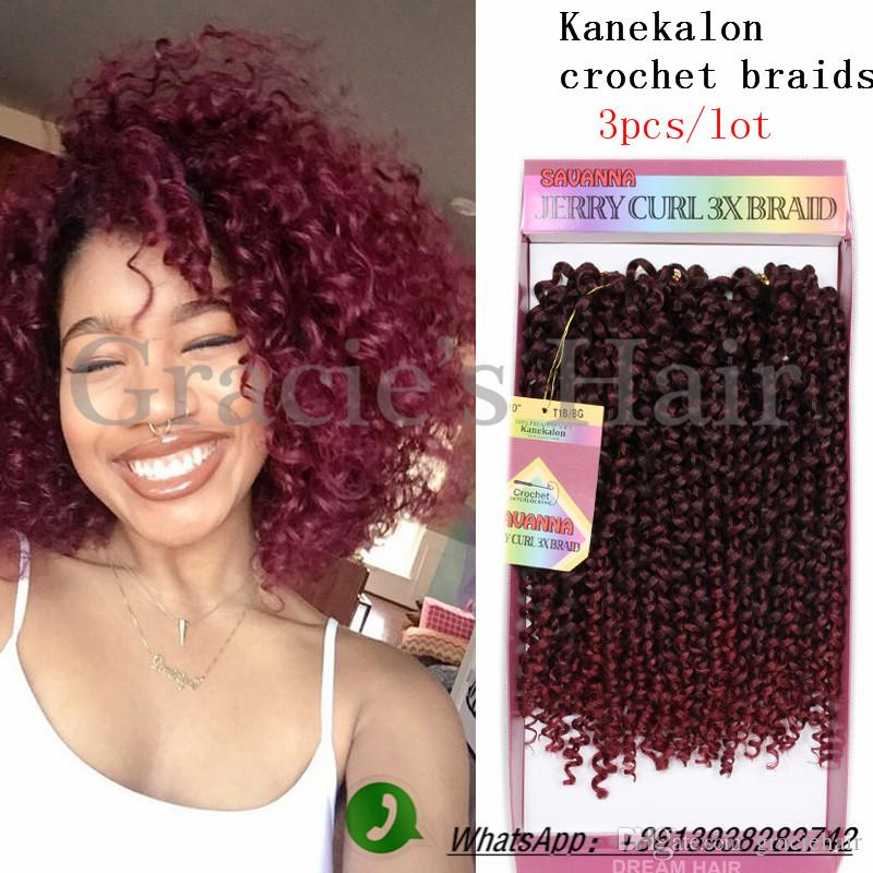2018 Afro Kinky Curly Synthetic Hair Bundles Freetress 10inch