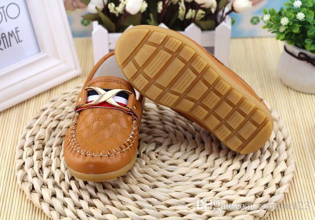 Kinderschuhe Frühling Herbst Kleinkind Little Boys Loafers Schuhe Kinder Slip-on PU-Leder Kinder Freizeitschuhe