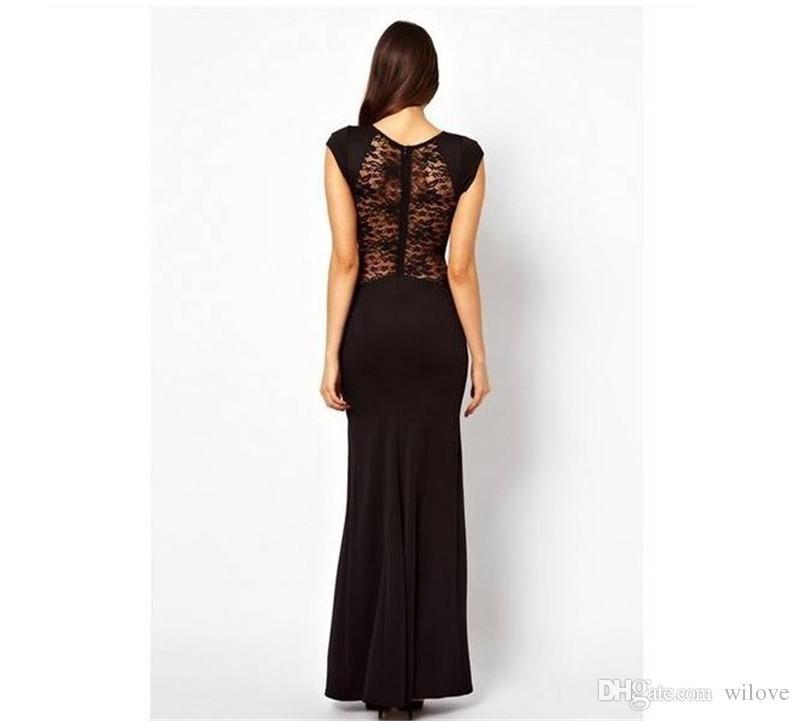 Vestido de cóctel de la tarde del vestido de noche del ajustado del vestido de noche del ajustado de las nuevas mujeres de la moda elegante atractivo largo del bodycon