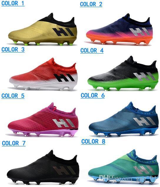 huge discount dd151 9d640 Compre 2017 Hombres Messi 16 Pureagility FG AG Tacos De Fútbol Hombres X  17+ Purechaos FG Zapatos De Fútbol Zapatos De Fútbol De Primera Calidad  Nuevos ...