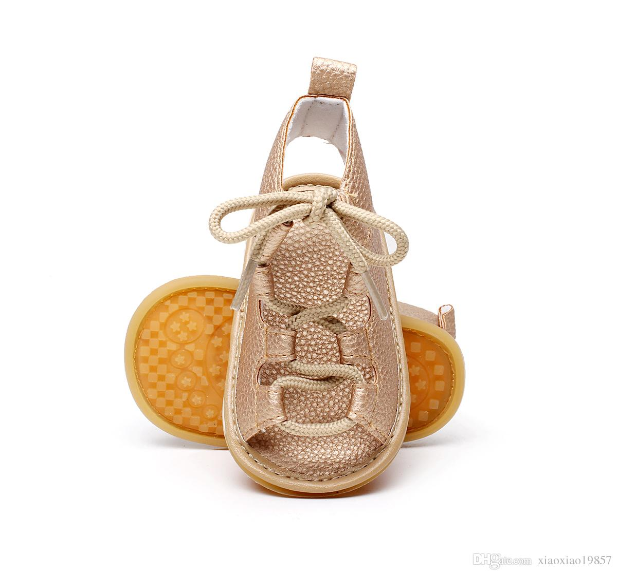 8f84f24477c Baby Girls Sandals Summer Rubber Sole Toddler Kids Lace Up Sandals Girls  Rome Sandals Baby High Gladiator Sandal Child PU Leather Shoes Childrens  Shoes ...