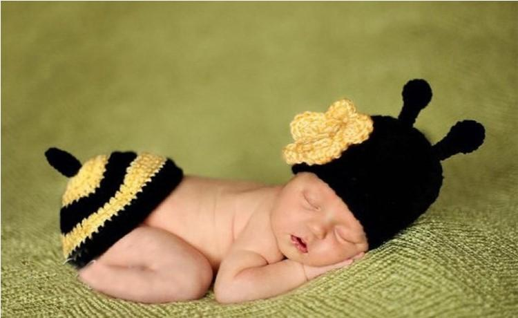 Baby Newborn Nursling Cap Photo Photography Props Hats Costume Handmade Crochet Knitted Set Cartoon Animal Beanie Infant Outfits Mix Styles