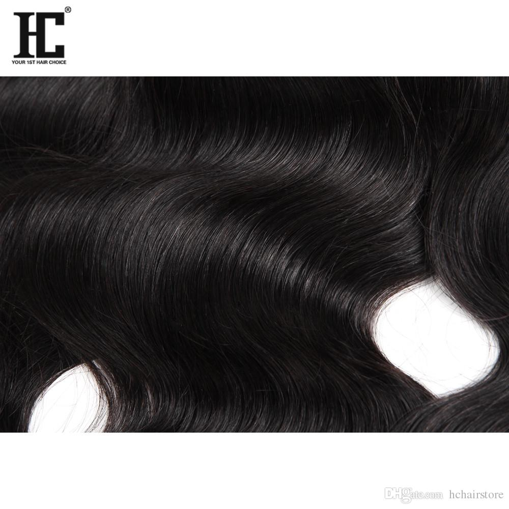 Brazilian Body Wave Virgin Hair 4 Bundles with Frontal Closure Brazilian Hair Bundles Human Hair Weave Ear to Ear Lace Frontal