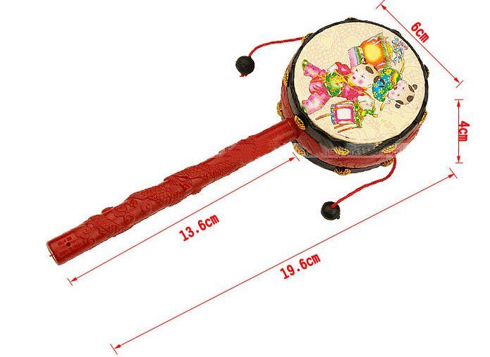 Los juguetes de los niños al por mayor, tambor propicio de la onda de la buena calidad, traqueteo del bebé