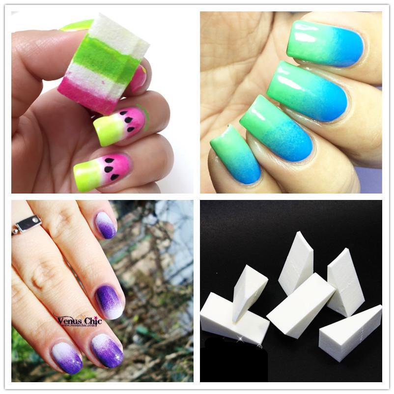 Wholesale Gradient Nails Soft Sponges For Color Fade Creative Nail ...