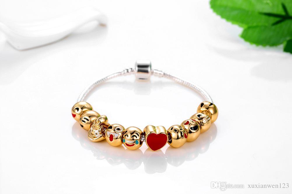 Горячие Женщины мультфильм браслеты улыбающееся лицо браслет для женщины девушки ювелирных свадьбы День Святого Валентина женщина аксессуары