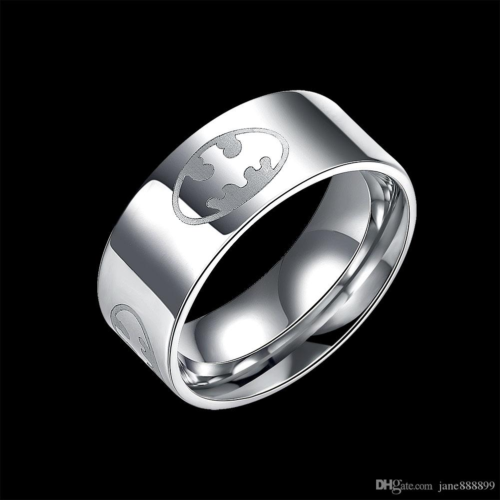 2016 New Mens Ring Stainless Steel Punk Rock Ring With Wire Cubic