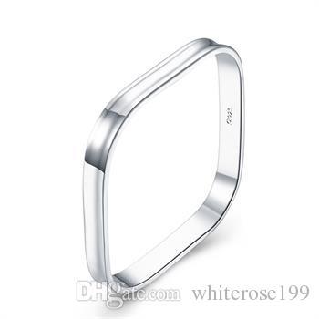 Vente en gros - Détail prix le plus bas prix de Noël, livraison gratuite, nouveau bracelet en argent 925 mode B053