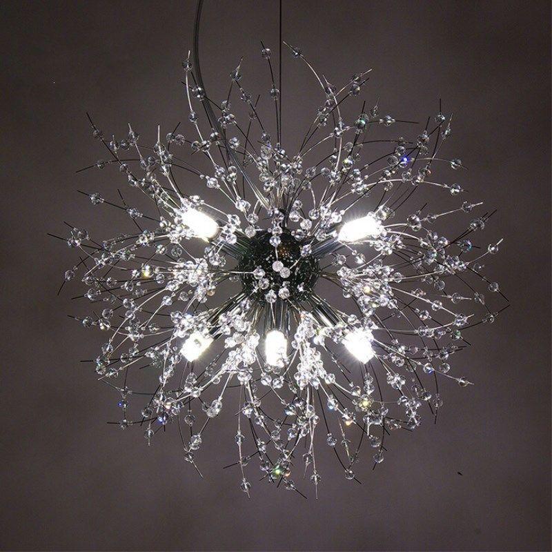 Modern Karahindiba LED Tavan Işık Kristal avizeler Aydınlatma Küre Topu Sarkıt Odası Yatak Odası Salon Aydınlatma Armatür Yemek için