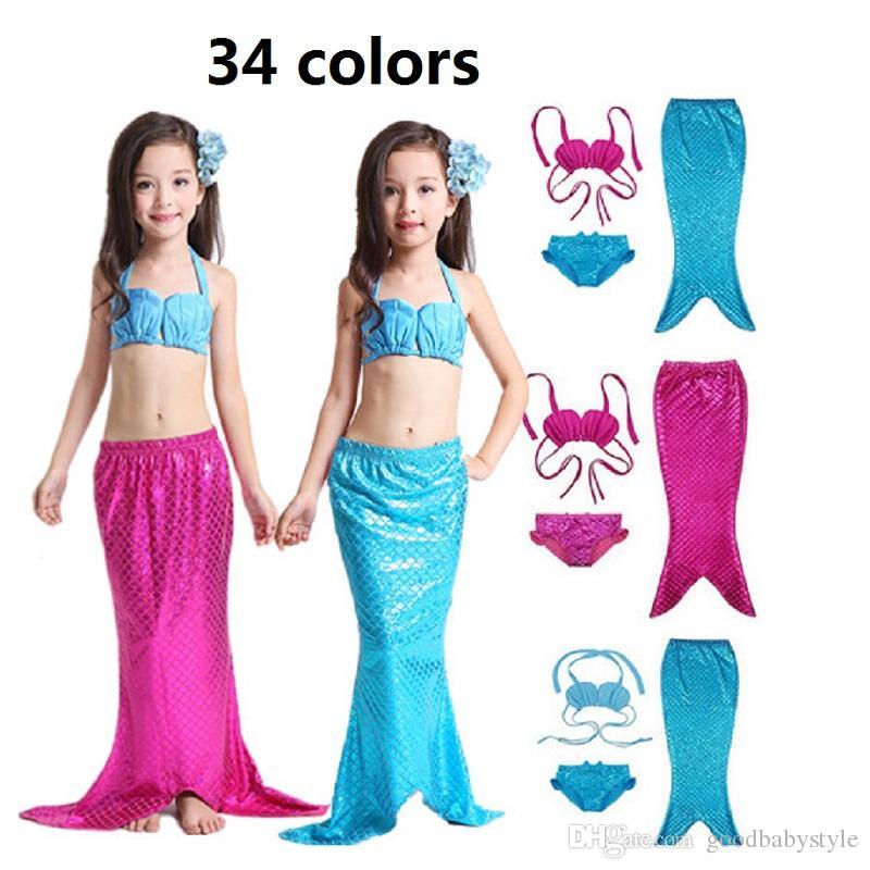 d0ae835403425 Mermaid Tail Costume For Kids & Blue Seas Mermaid Deluxe Girls ...