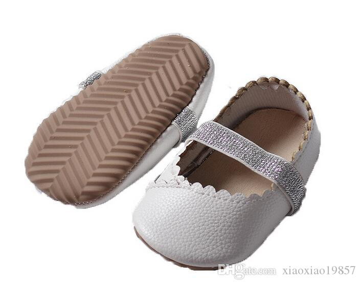 61c7ab5174b3 2019 2017 New Designs Genuine Leather Girls Boys Handmade Toddler Hard  Rubber Sole Ballet Moccs Toddler Baby Moccasins Shoes Sandals Wholesale  From ...