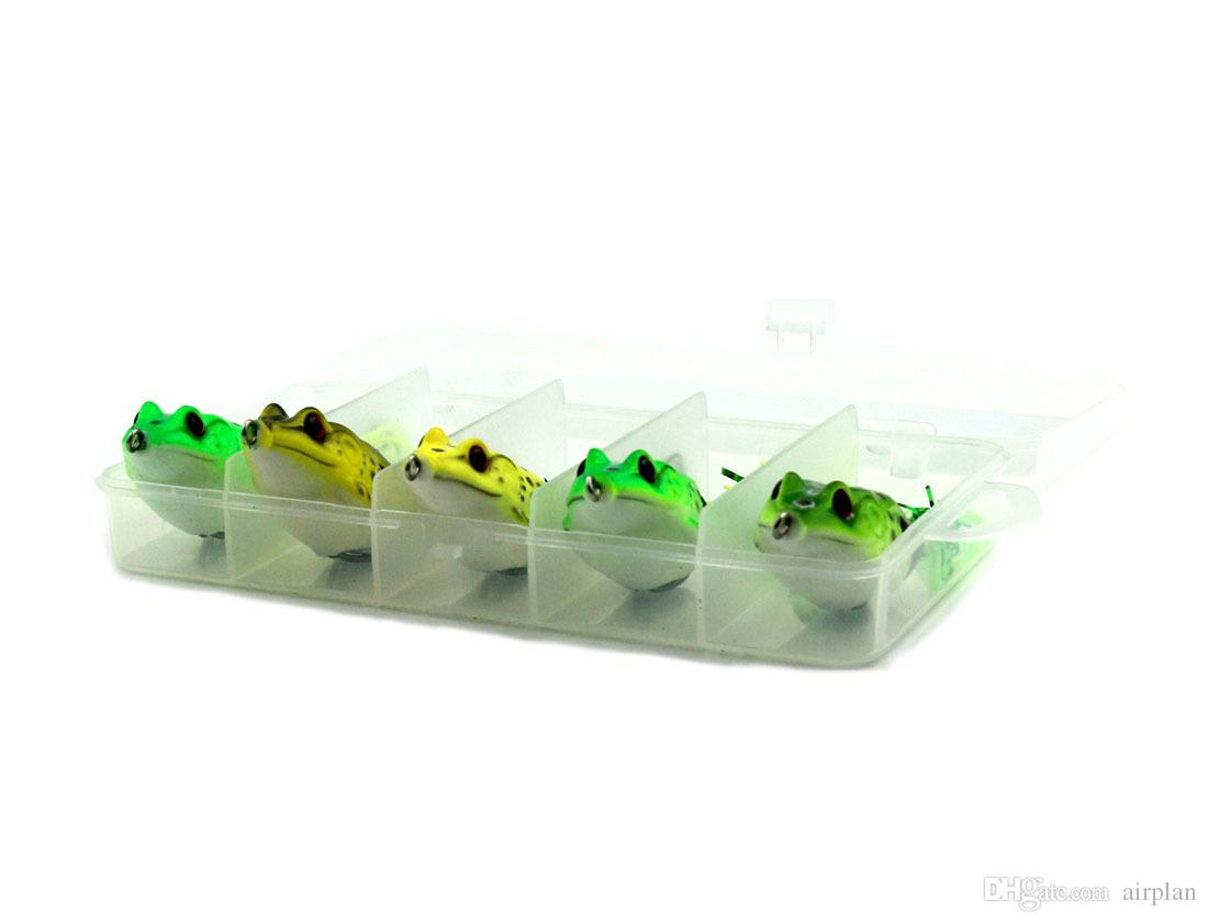 of soft fishing lure artificial swimbait bass pike bionic rubber frog insect bait fishing boxes accessories pesca hooks