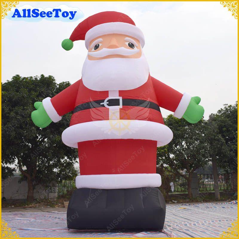 Santa Claus Giant Inflatable Santa Claus, Inflatable Santa Led Outdoors,Lighted Inflatable Father,Christmas Decoration Different Events