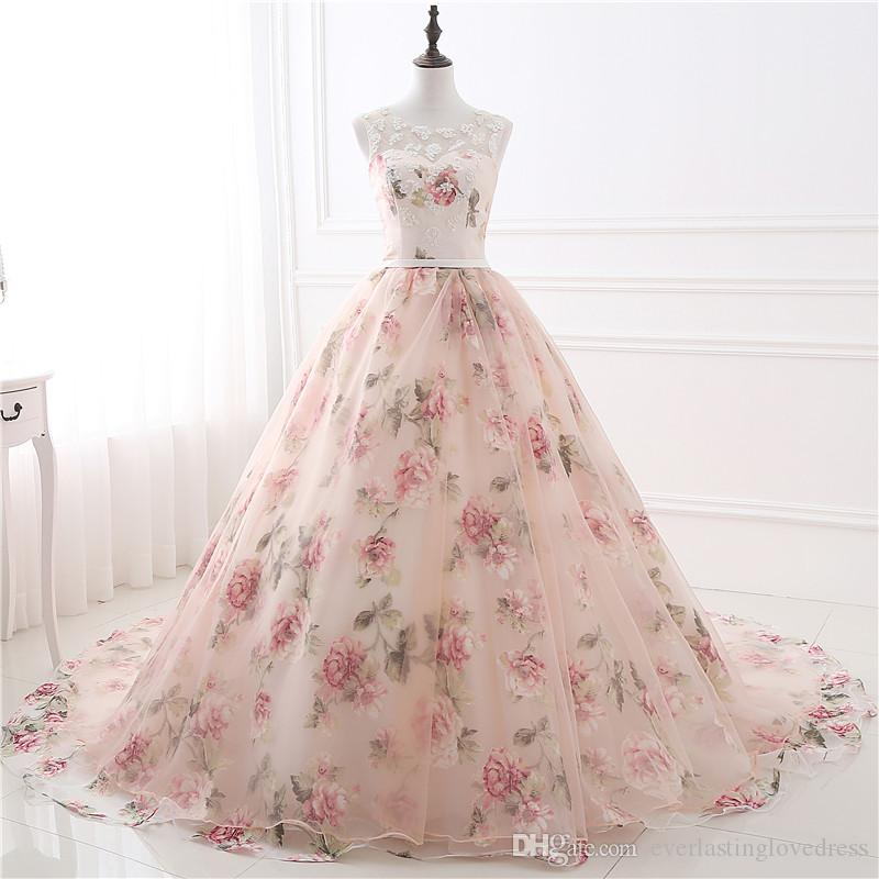 In stock cheap appliques prom dress print flowers organza ball gown in stock cheap appliques prom dress print flowers organza ball gown evening dresses rose flowers lace formal gowns white formal dress baby blue prom dresses mightylinksfo