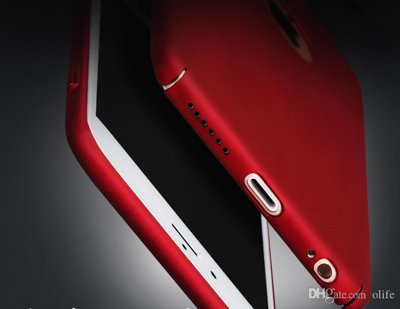 Ultra-mince Mince Peinture Métal Mat PC Dur Case Full Body Couverture Arrière pour iPhone 7 6 6S Plus