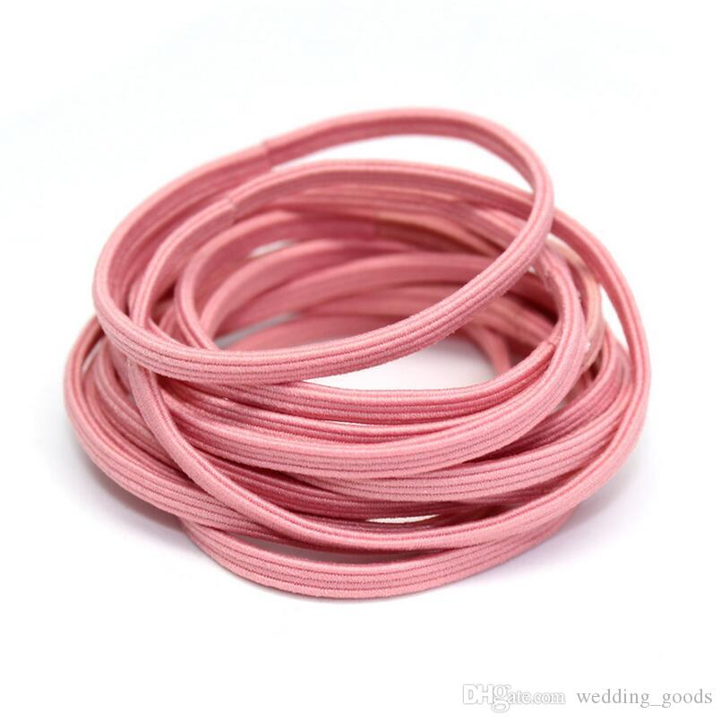 High quality Leather buckle bursts of high elastic flat hair rope DIY essential hair ornaments FQ059 a