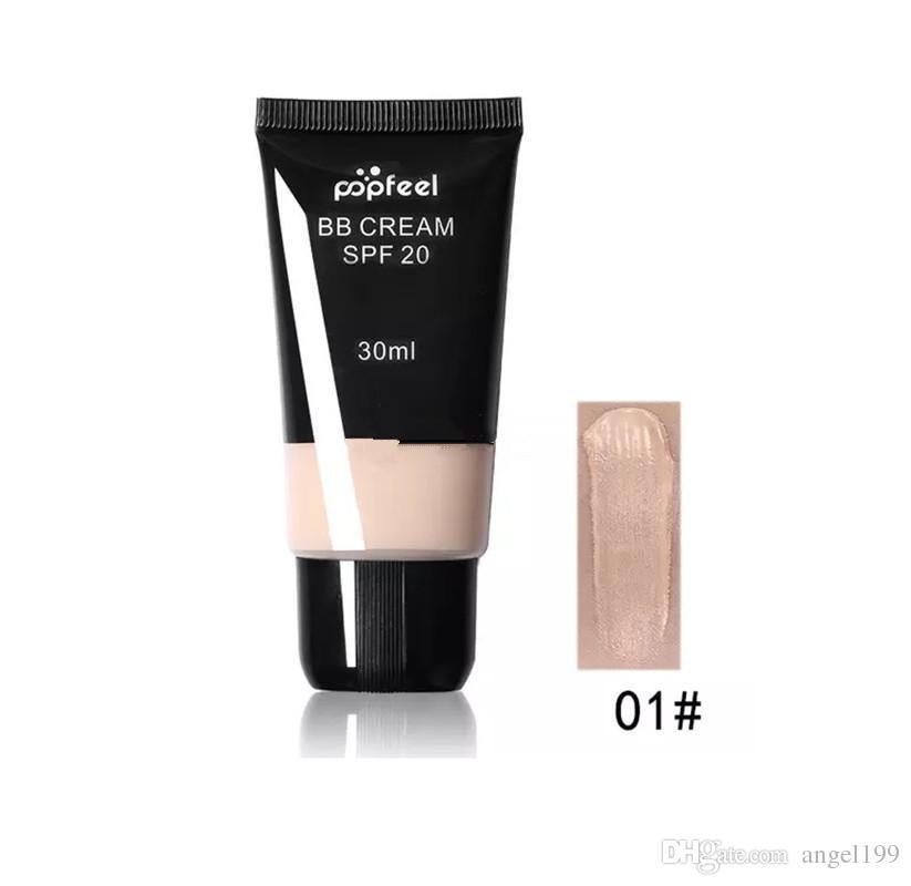 Popfeel Marca Rosto BB Creme CC Creme SPF 20 Corretivo Líquido Foundation Maquiagem Whitening Nude Primer Base de Cosméticos À Prova D 'Água