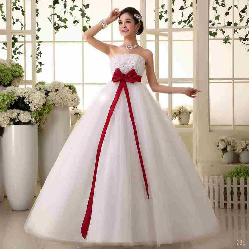 Discount maternity bride sexy empire gown wedding dresses for Plus size wedding dresses size 32 and up