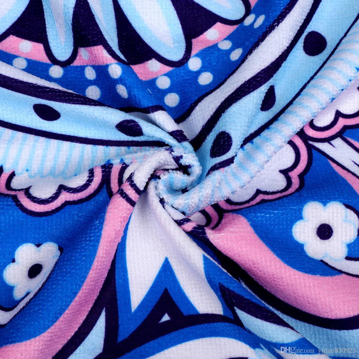 Оптовая Flamingo Микрофибра Круглый Пляжное Полотенце Мандала Большие Пляжные Полотенца Одеяло Пикник Коврик Для Йоги Boho Скатерть Диаметр 150 см