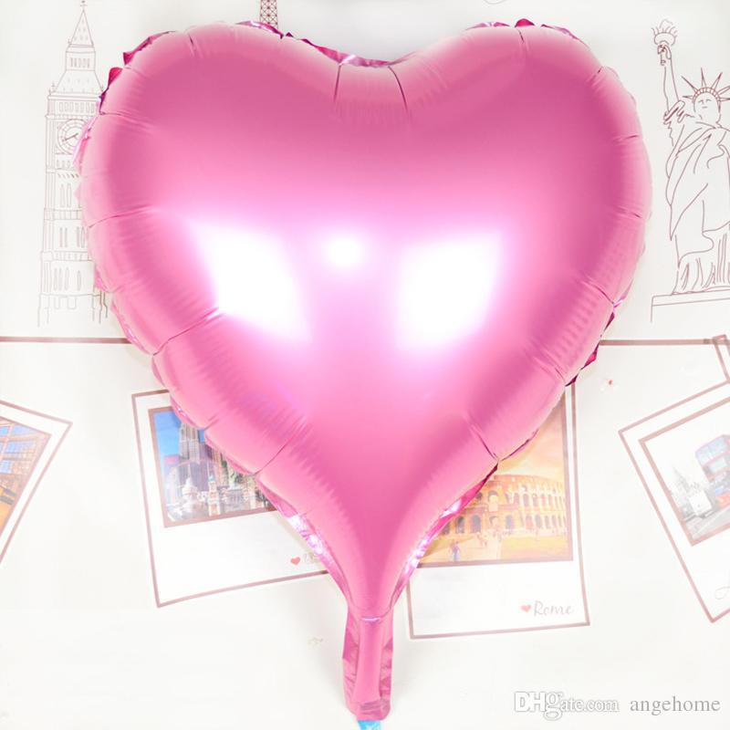 30inch 75cm 사랑 풍선 - 6 색 하트 모양의 호일 풍선 대형 웨딩 생일 장식 공기 풍선 파티 용품