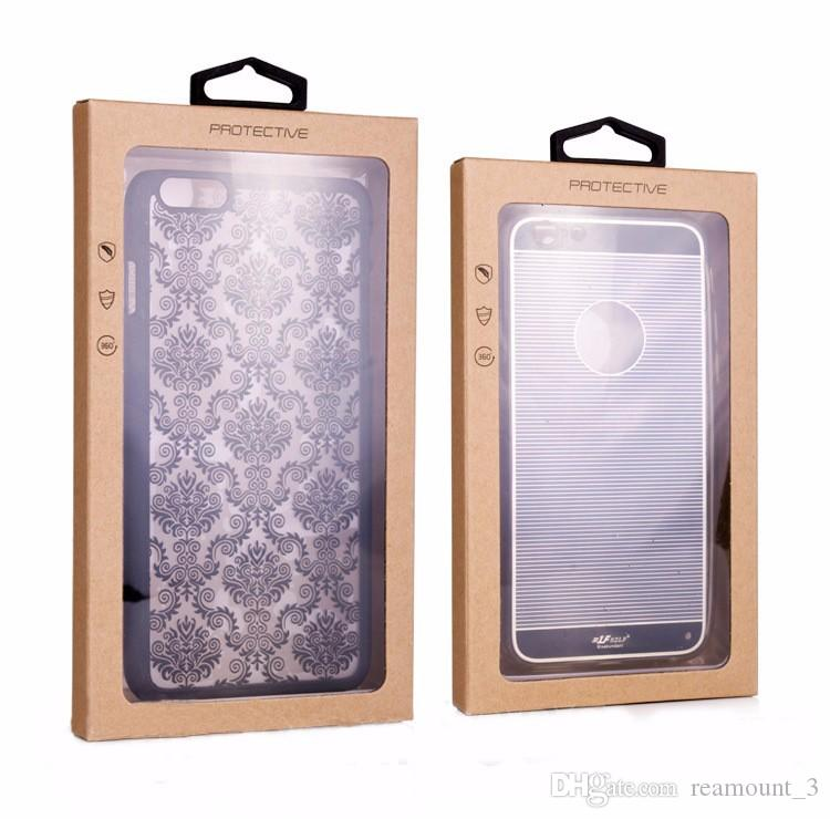 kraft paper phone case boxes packaging,Black Retail Package window boxes For mobile phone case