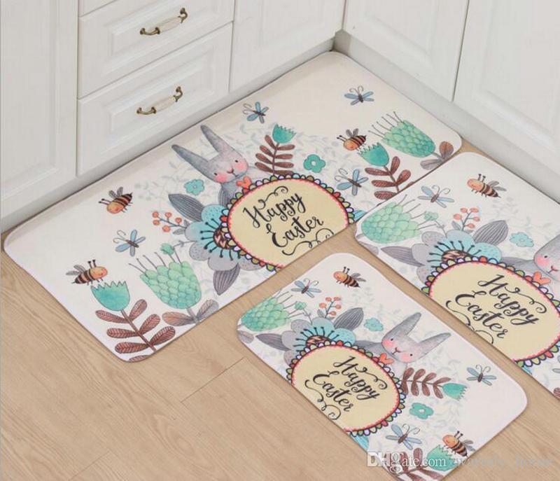 Wholesale Big Discount Area Rugs Floor Pad Matting Carpets Tiles Cover Doormats Slow Rebound Suede Footcloth Mat Kitchen Room