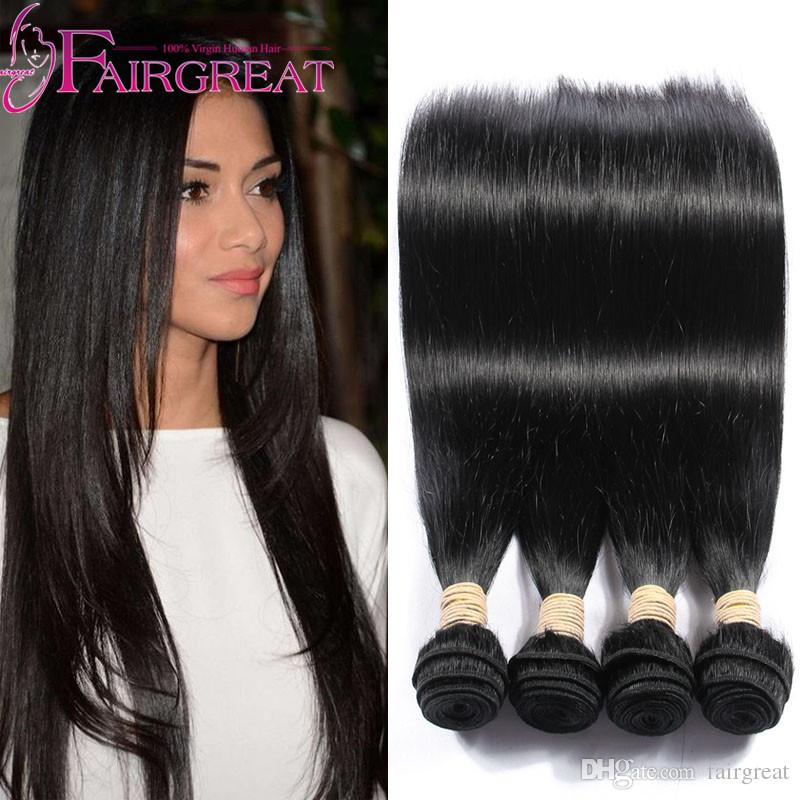100 Straighr Indian Unprocessed Human Hair Weaves Indian Virgin