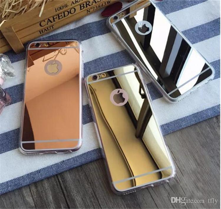크리스마스 전기 도금 울트라 얇은 미러 소프트 TPU 다시 커버 케이스 아이폰 X 8 7 6 6S 5 플러스 삼성 S7 가장자리 S8 노트 8 휴대 전화 케이스에 대한