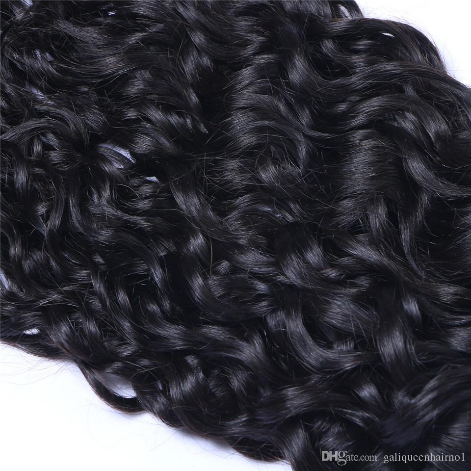 البرازيلي العذراء الشعر البشري موجة المياه الطبيعية غير المجهزة ريمي الشعر ينسج مزدوج لحمة 100 جرام / حزمة 2Bundle / يمكن مصبوغ
