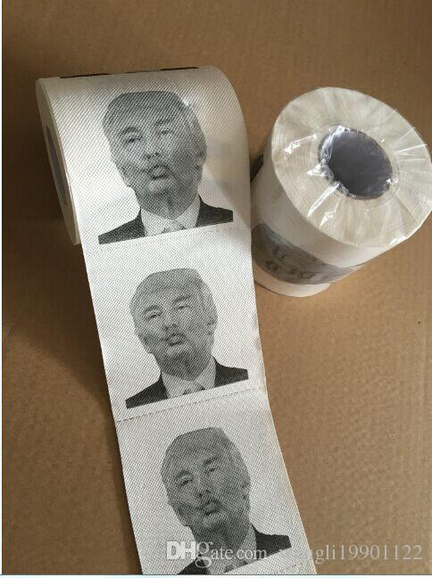 Creative Funny Toilet Paper With Donald Trump Hillary Clinton - Creative comical paper drawings