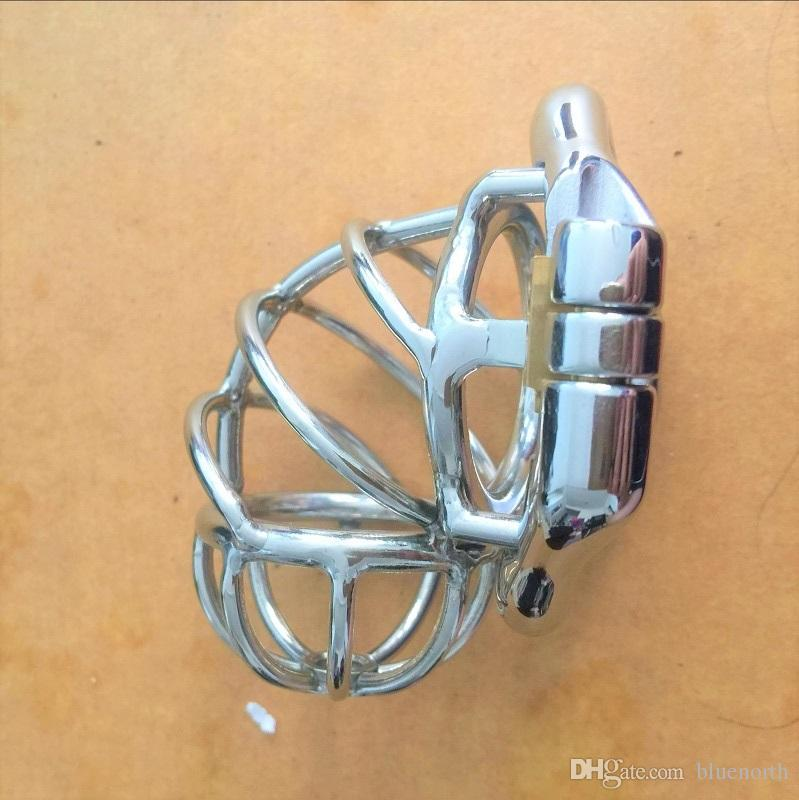 Men's Virginity Lock Unique Design Chastity Belt Stainless Steel Cock Cage Male Chastity Devices Penis Lock Cock Ring for Men