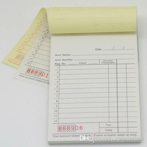 Custom A Duplicate Carbonless Tax Invoice NCR Book Print Duplicate - Custom carbon invoice book