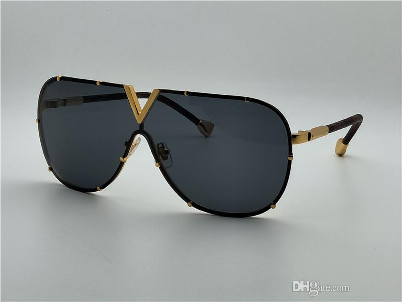 Best-selling style L0926 pilots frameless frame leather legs top quality design fashion sunglasses anti-UV protection Drive sunglasses