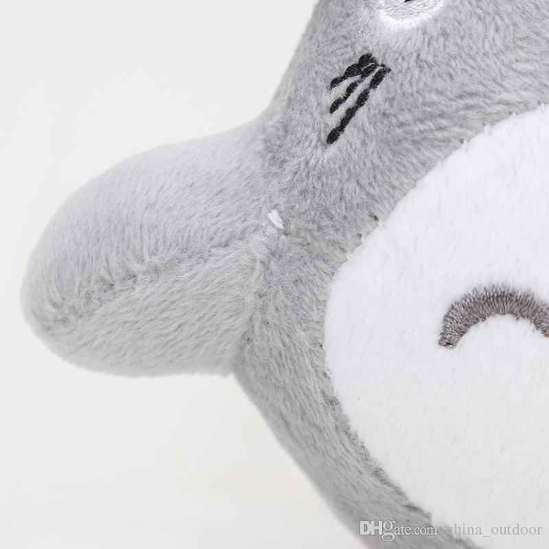 10cm Anime Gray My Neighbor Totoro Plush Toy Keychain Pendant Dolls Toys New Christmas Gift for Kids