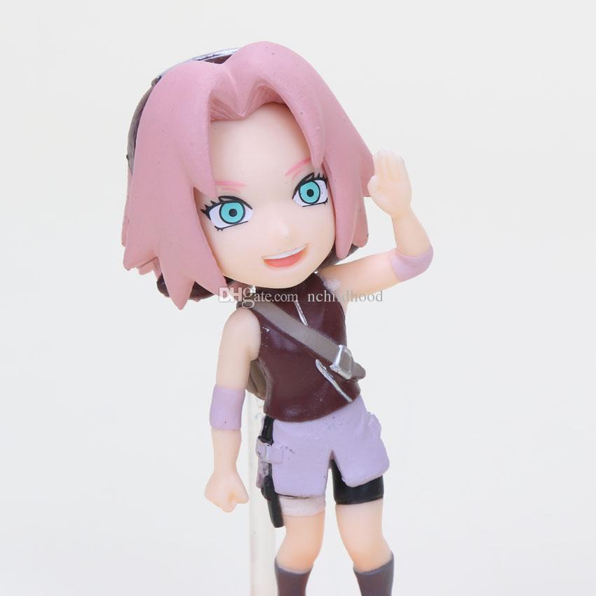 Naruto figure Naruto Gaara Kakashi Sakura Sasuke PVC action figure model toy set 7-8cm